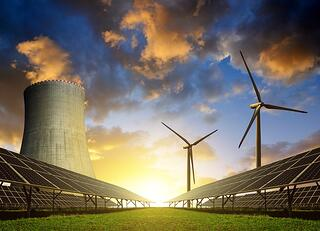 Nuclear, solar and wind energy